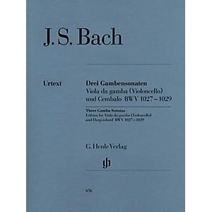 G. Henle Verlag Sonatas for Viola da Gamba and Harpsichord BWV 1027-1029 f... by G. Henle Verlag