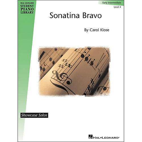 Hal Leonard Sonatina Bravo - Showcase Solo Level 4 Early Intermediate Hal Leonard Student Piano Library by Carol Klose-thumbnail