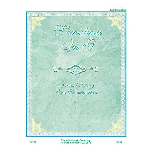 Willis Music Sonatina in G (Early Inter Level) Willis Series by Eric Baumgartner