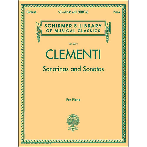 G. Schirmer Sonatinas And Sonatas for Piano By Clementi-thumbnail