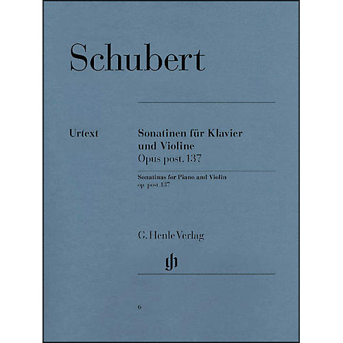 G. Henle Verlag Sonatinas for Piano And Violin Opus Post 137 By Schubert-thumbnail