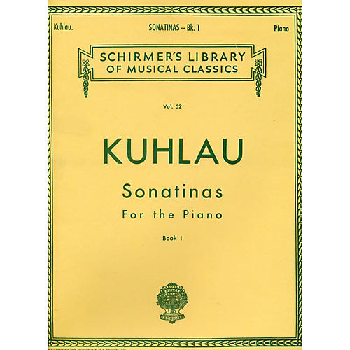 G. Schirmer Sonatinas for The Piano Book 1 By Kuhlau