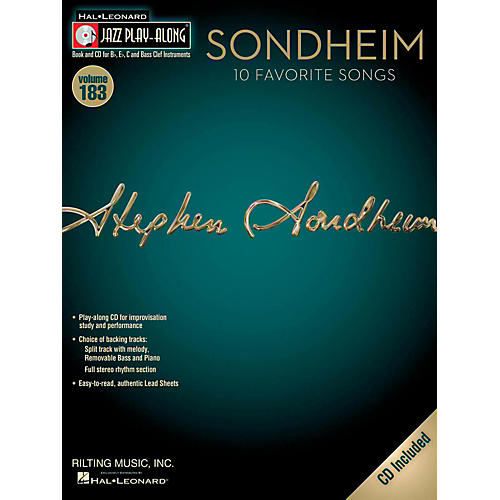 Hal Leonard Sondheim - Jazz Play-Along Volume 183 Book/CD-thumbnail