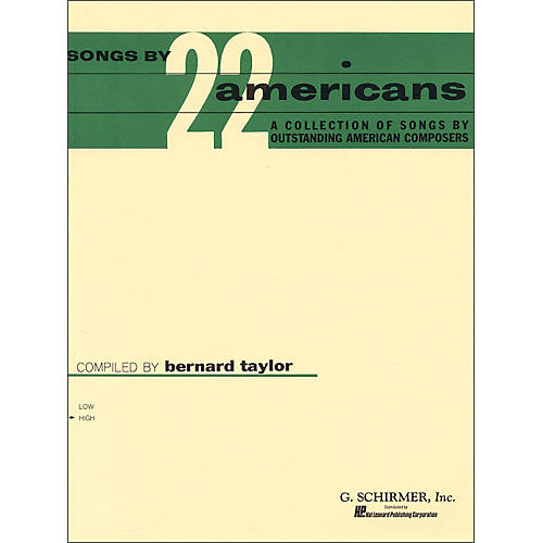 G. Schirmer Songs By 22 Americans for High Voice-thumbnail