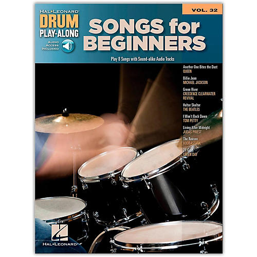 Hal Leonard Songs For Beginners - Drum Play-Along Volume 32 (Book/Online Audio)-thumbnail