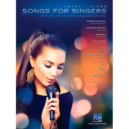 Hal Leonard Songs For Singers - 25 Popular Hits With Piano Accompaniment