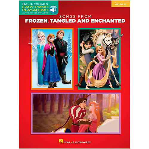 Hal Leonard Songs From Frozen, Tangled and Enchanted - Easy Piano CD Play-Along Volume 32 Book/Online Audio