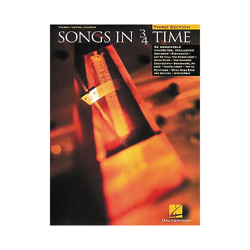 Hal Leonard Songs In 3/4 Time Piano/Vocal/Guitar Songbook