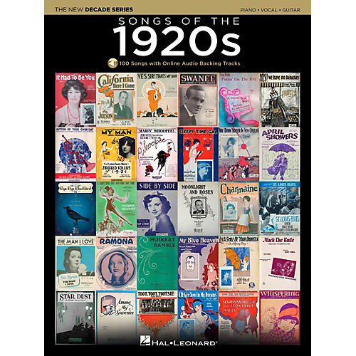 Hal Leonard Songs Of The 1920's - The New Decade Series with Optional Online Play-Along Backing Tracks-thumbnail