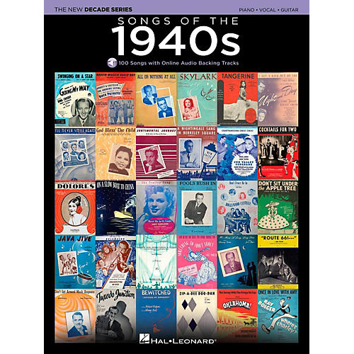 Hal Leonard Songs Of The 1940's - The New Decade Series with Optional Online Play-Along Backing Tracks-thumbnail