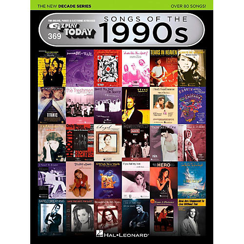 Hal Leonard Songs Of The 1990s - The New Decade Series E-Z Play Today Volume 369