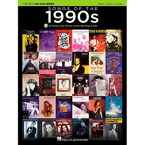 Hal Leonard Songs Of The 1990's - The New Decade Series with Optional Online Play-Along Backing Tracks-thumbnail