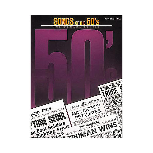 Hal Leonard Songs Of The 50's Piano, Vocal, Guitar Songbook-thumbnail