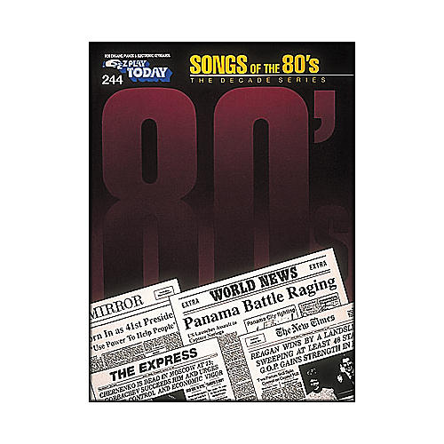 Hal Leonard Songs Of The Eighties 80's Decade Series E-Z Play 244-thumbnail