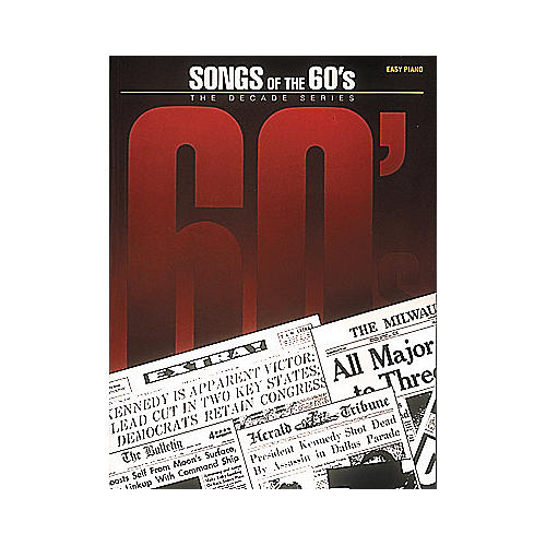 Hal Leonard Songs Of The Sixties 60's - Decade Series For Easy Piano-thumbnail