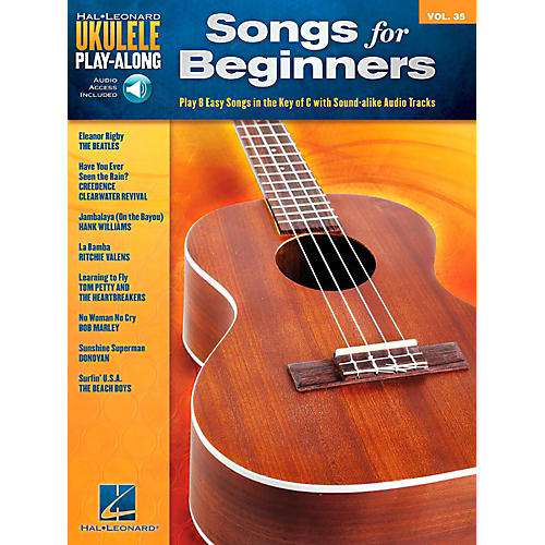 hal leonard songs for beginners ukulele play along volume 35 book audio online guitar center. Black Bedroom Furniture Sets. Home Design Ideas