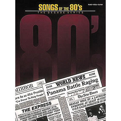 Hal Leonard Songs of the '80s Piano, Vocal, Guitar Songbook-thumbnail