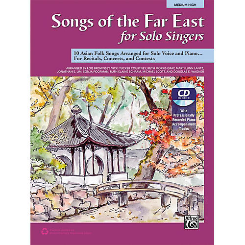 Alfred Songs of the Far East for Solo Singers Book & Acc. CD Medium High-thumbnail