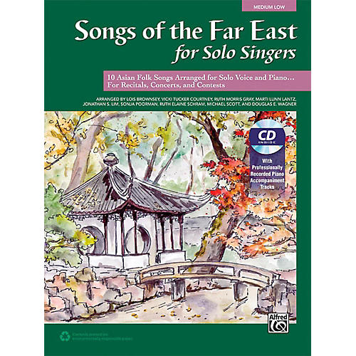 Alfred Songs of the Far East for Solo Singers Book & Acc. CD Medium Low-thumbnail