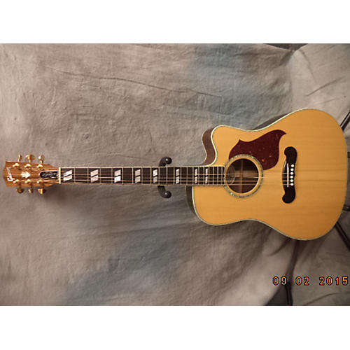 Gibson Songwriter Deluxe EC Studio Natural Acoustic Electric Guitar-thumbnail