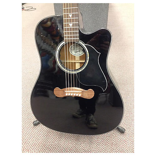 Gibson Songwriter Deluxe Special Black Acoustic Electric Guitar-thumbnail