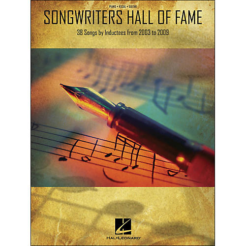 Hal Leonard Songwriters Hall Of Fame 2003-2009 arranged for piano, vocal, and guitar (P/V/G)-thumbnail
