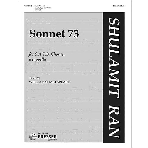 Carl Fischer Sonnet 73 for SATB Chorus A Cappella