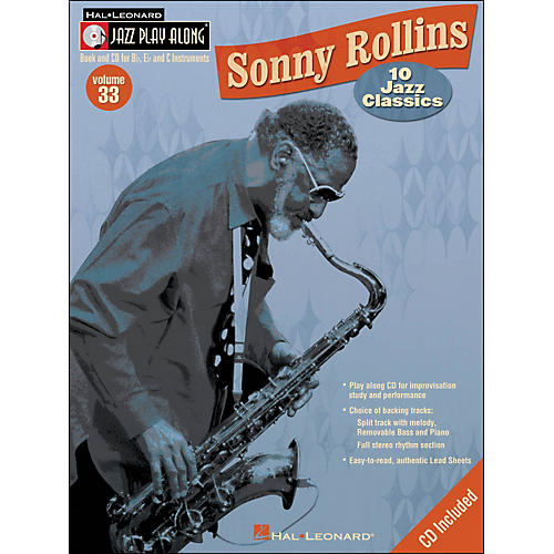 Hal Leonard Sonny Rollins Vol 33 Book/CD 10 Jazz Classics Jazz Play Along-thumbnail