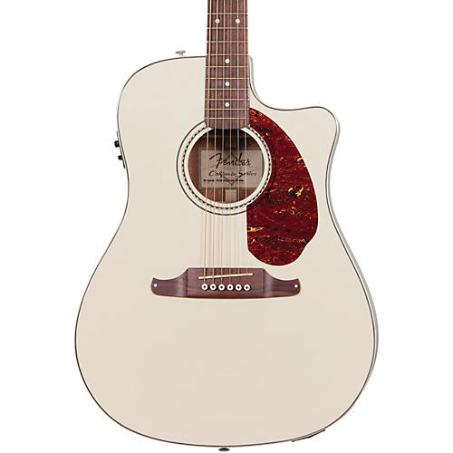 Fender Sonoran SCE Acoustic-Electric Guitar Olympic White