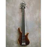 Zon Sonus Custom Quilt Flamed Redwood Top 5 String Electric Bass Guitar