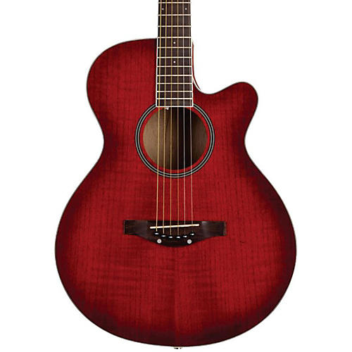 Daisy Rock Sophomore Cutaway Acoustic Guitar Lovin' Red