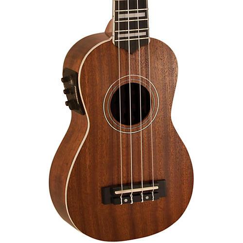 Lanikai Soprano All-Mahogany Acoustic-Electric Ukulele with USB-thumbnail