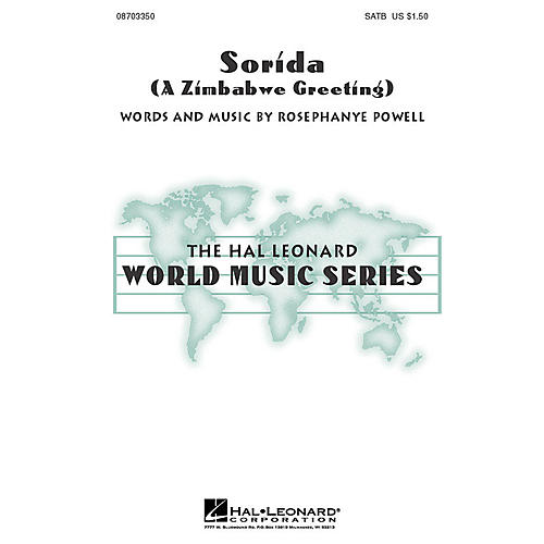 Hal Leonard Sorida (A Zimbabwe Greeting) SATB composed by Rosephanye Powell