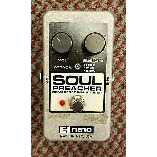 Electro-Harmonix Soul Preacher Nano Compressor / Sustainer Effect Pedal-thumbnail
