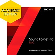 Sony Sound Forge Pro Mac 2 - Academic Software Download