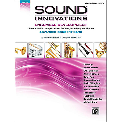 Alfred Sound Innovations Concert Band Ensemble Development Advanced Alto Saxophone 2