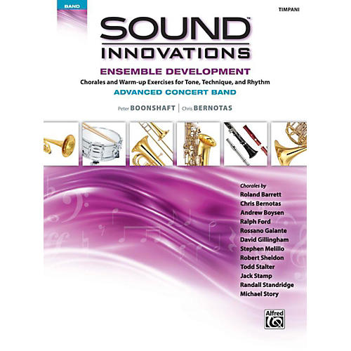 Alfred Sound Innovations Concert Band Ensemble Development Advanced Timpani