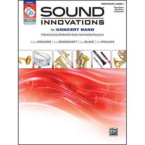 Alfred Sound Innovations for Concert Band Book 2 Percus,Sn,Bass/Acc. Book CD/DVD-thumbnail