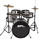 Sound Percussion Labs Kicker Pro - 5 Piece Drum Set with Stands, Cymbals, and Throne (D2518SMG)