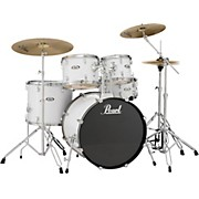 Soundcheck Complete 5-pc. Drum Set with Hardware and Zildjian Planet Z Cymbals Pure White