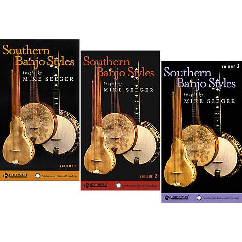 Homespun Southern Banjo Styles 3-Video Set (VHS)-thumbnail