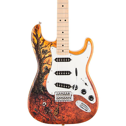 Fender Special Edition David Lozeau Art Maple Fingerboard Stratocaster Electric Guitar-thumbnail