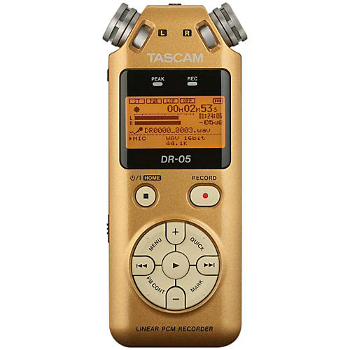 Tascam Special Edition Vintage Gold DR-05 Linear PCM Recorder