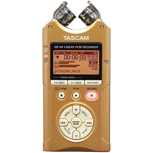 Tascam Special Edition Vintage Gold DR-40 Portable Digital Recorder Vintage Gold