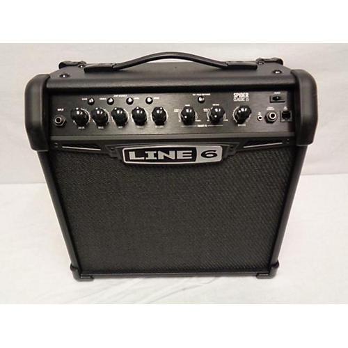 used line 6 spider 15 classic 15w 1x8 guitar combo amp guitar center. Black Bedroom Furniture Sets. Home Design Ideas