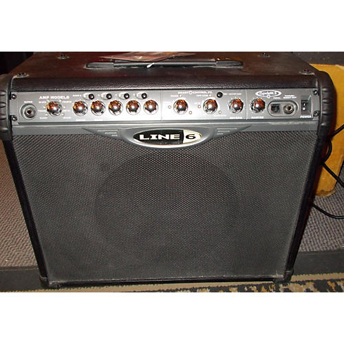 Line 6 Spider II 1X12 75W Black Guitar Combo Amp-thumbnail