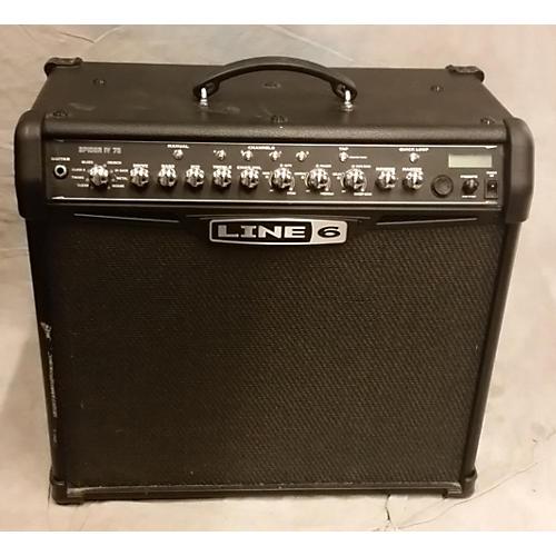 used line 6 spider iv 75w 1x12 guitar combo amp guitar. Black Bedroom Furniture Sets. Home Design Ideas