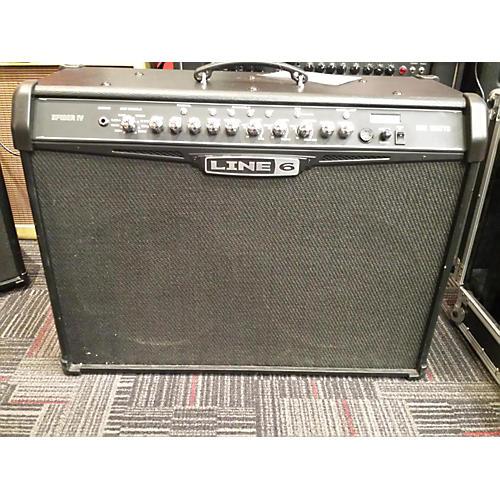 Line 6 Spider IV HD150 Black Guitar Amp Head-thumbnail