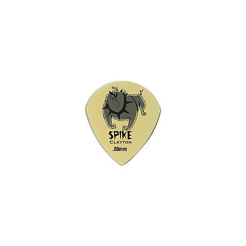 Clayton Spike Ultem Gold Sharp Teardrop Guitar Picks 1 Dozen-thumbnail