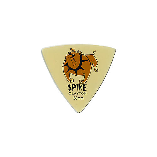 Clayton Spike Ultem Gold Sharp Triangle Guitar Picks 1 Dozen-thumbnail